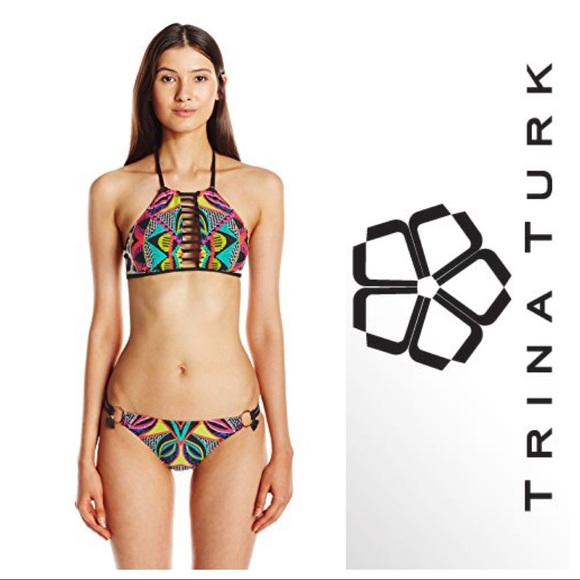 7e0eeab3b4 NWT Size 6 Medium Trina Turk tribal print bikini